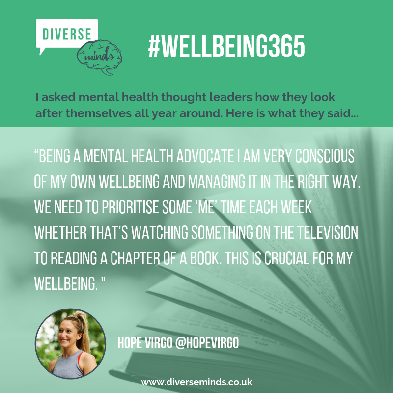 Hope Virgo's Tip for Wellbeing 365