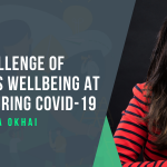 Photo of Leyla Okhai talking about The Challenge of Women's Wellbeing at Work during Covid-19